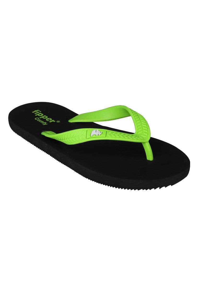Fipper Slipper Comfy Green (Apple) Size 7 - 11
