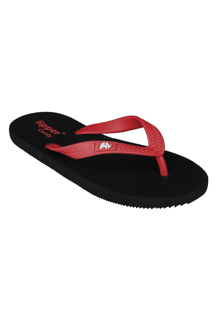 Fipper Slipper Comfy Red Size 7 - 11