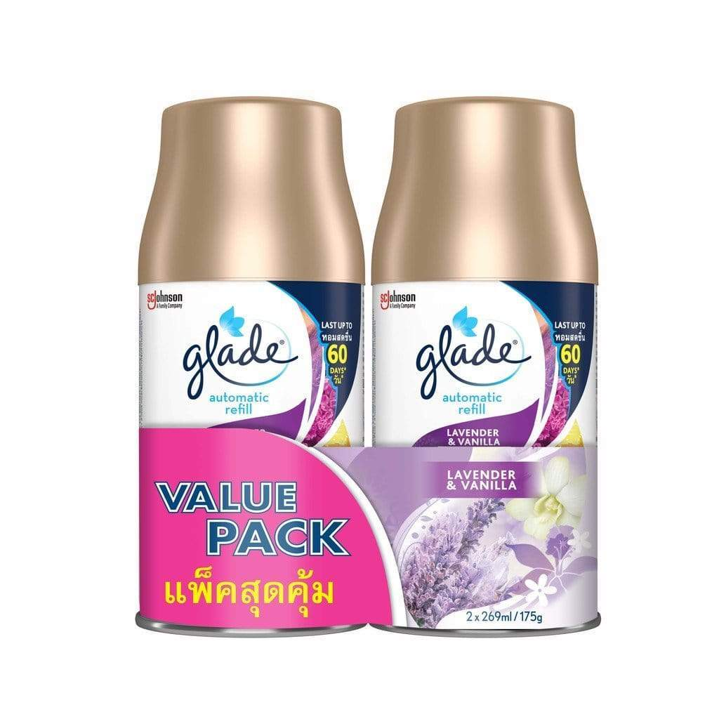 Glade Automatic Spray Twin Pack Lavender & Vanilla Refill 175g