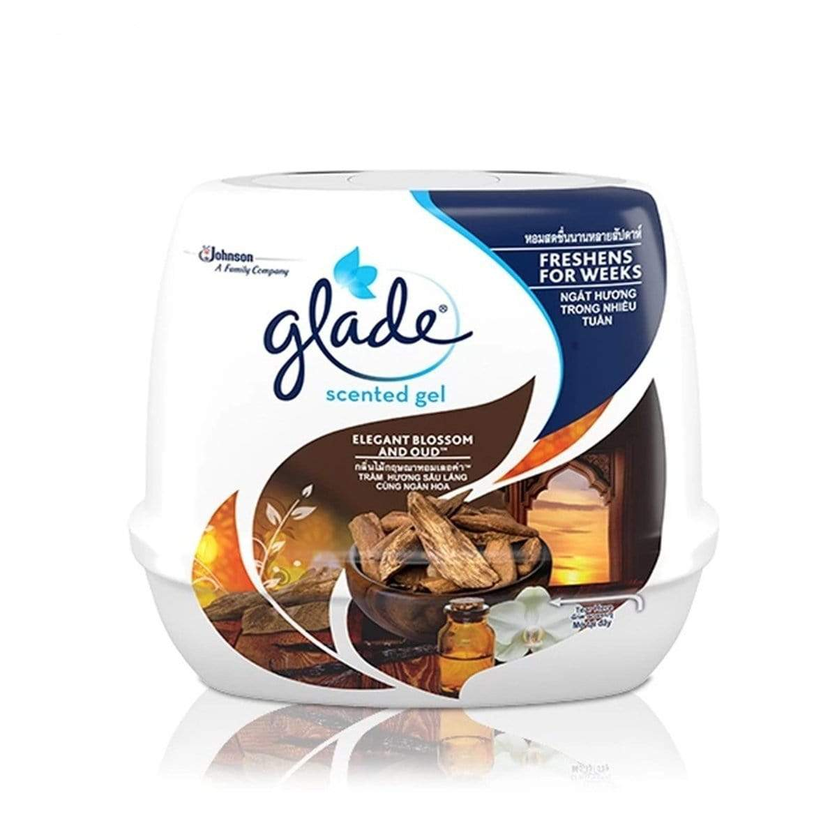 Glade Scented Gel Oud Blossom Air Freshener 180g