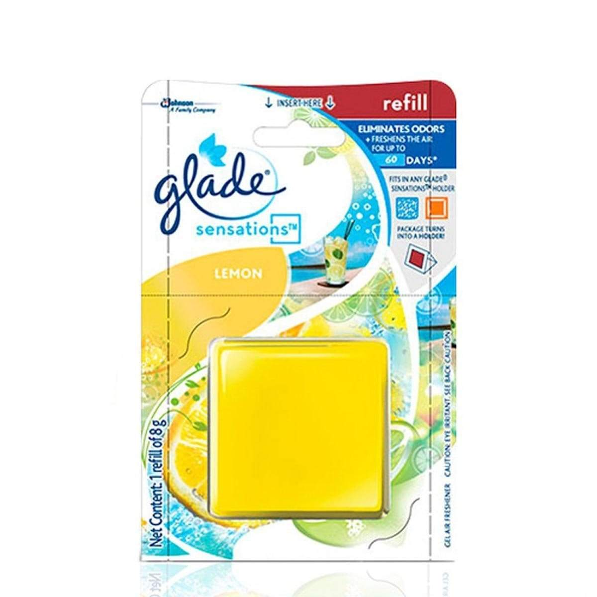 Glade Sensations Refill Lemon Car Air Freshener 8g