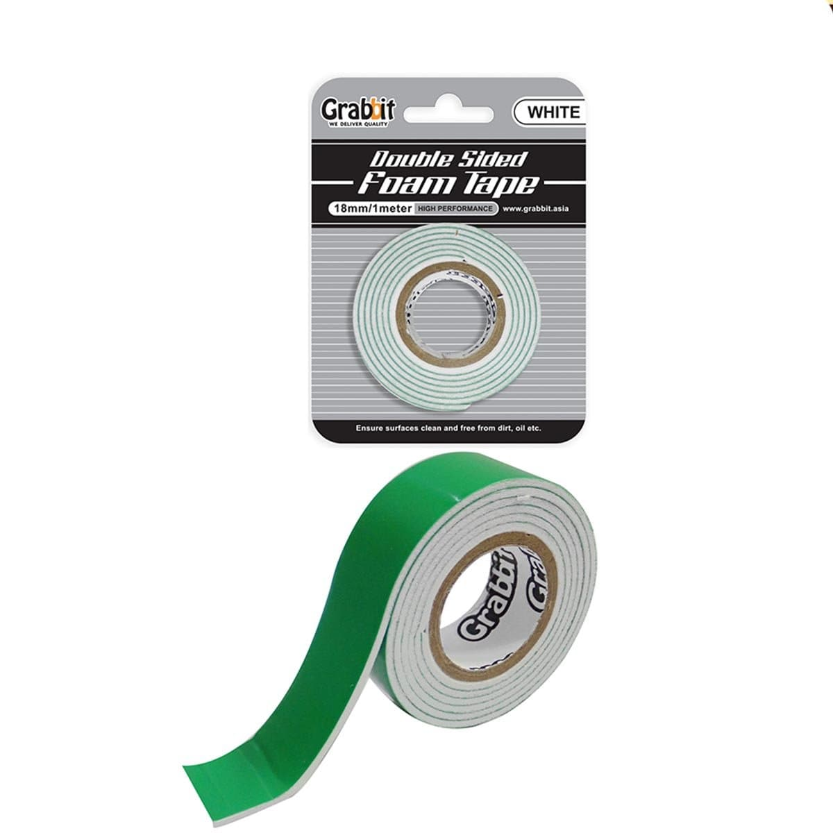 Grabbit Double Sided Foam Tape 18mm (White)