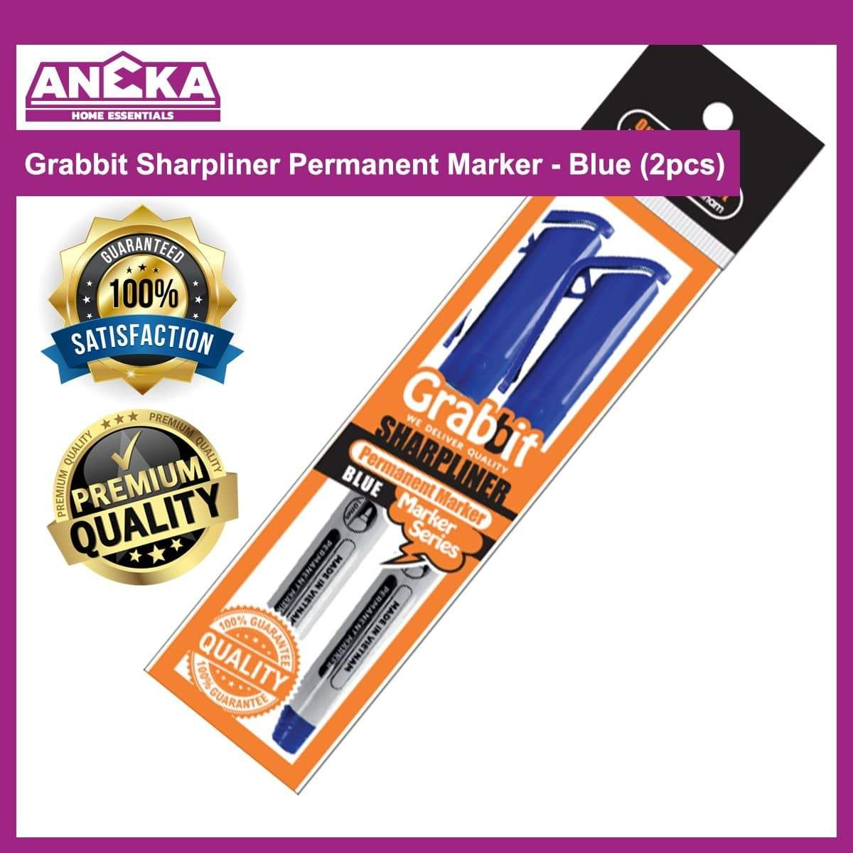 Grabbit Sharpliner Permanent Marker - Blue (2pcs)
