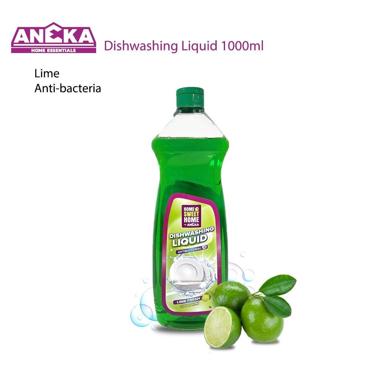 Home Sweet Home Dishwashing Liquid 1000ml Lime