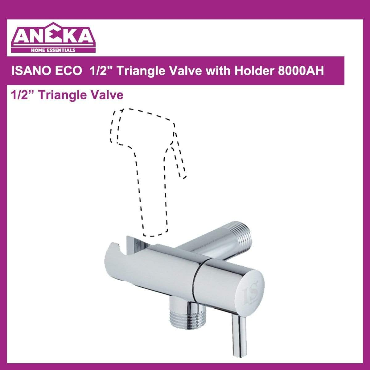 "ISANO ECO 1/2"" Triangle Valve w/Holder 8000AH"