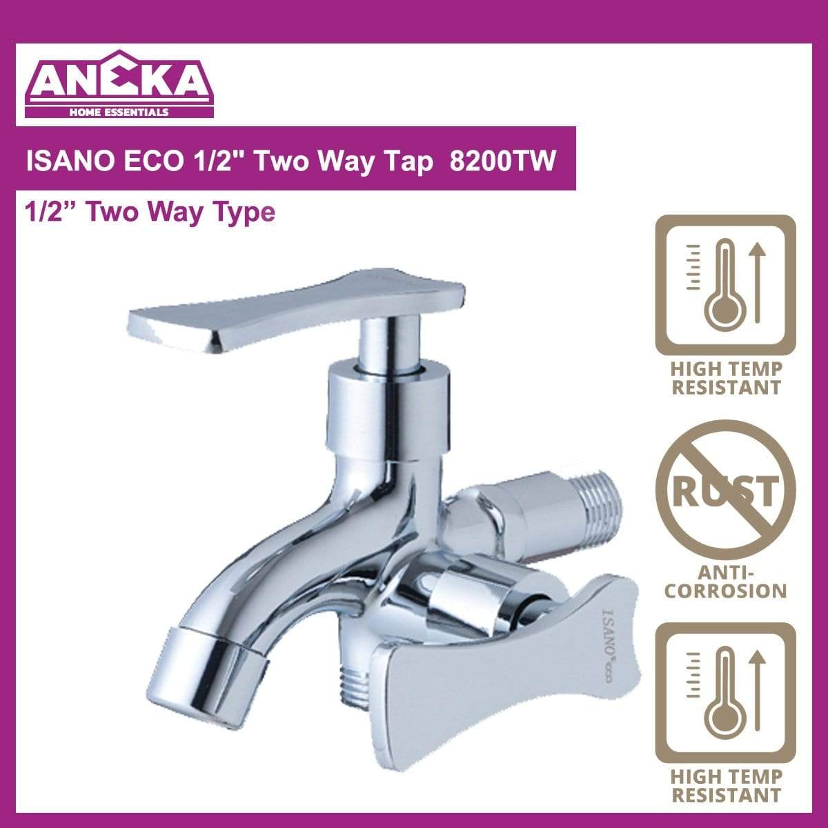 "ISANO ECO 1/2"" Two Way Tap 8200TW"