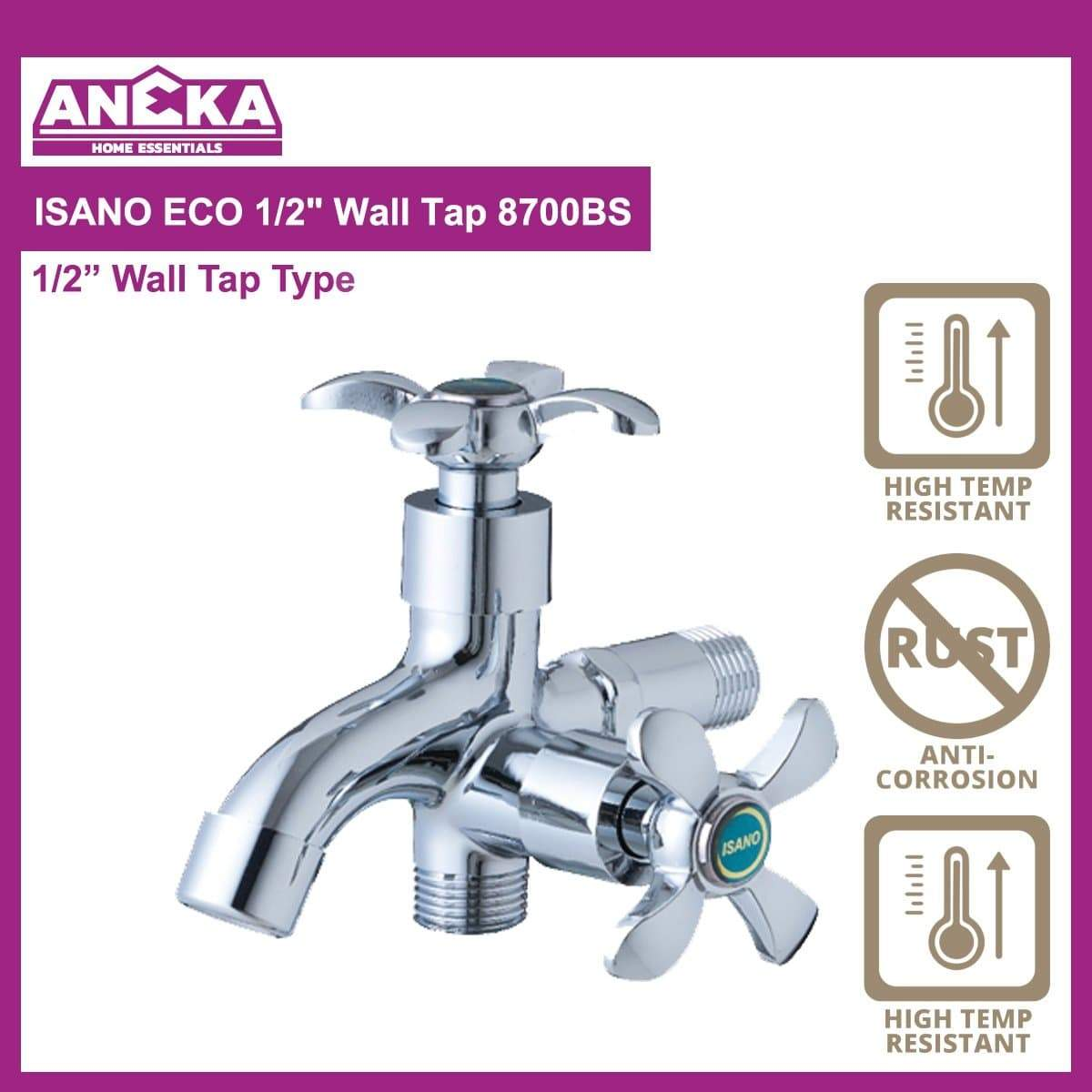 "ISANO ECO 1/2"" Two Way Tap 8700TW"