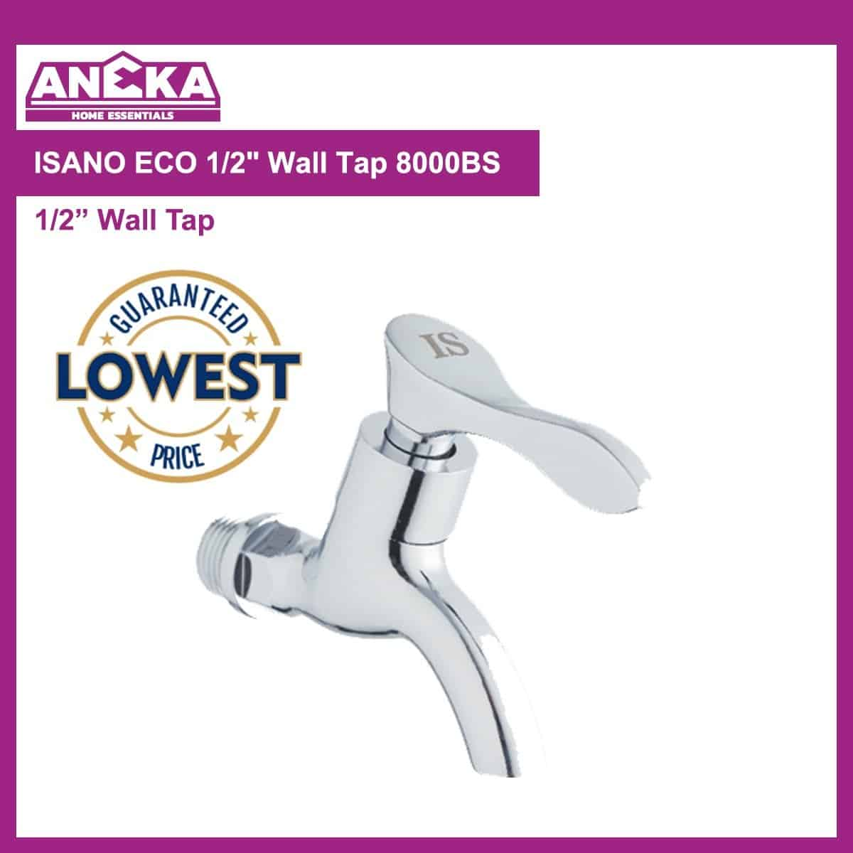 "ISANO ECO 1/2"" Wall Tap 8000BS"