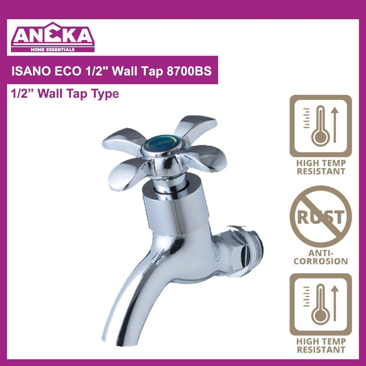 "ISANO ECO 1/2"" Wall Tap 8700BS"