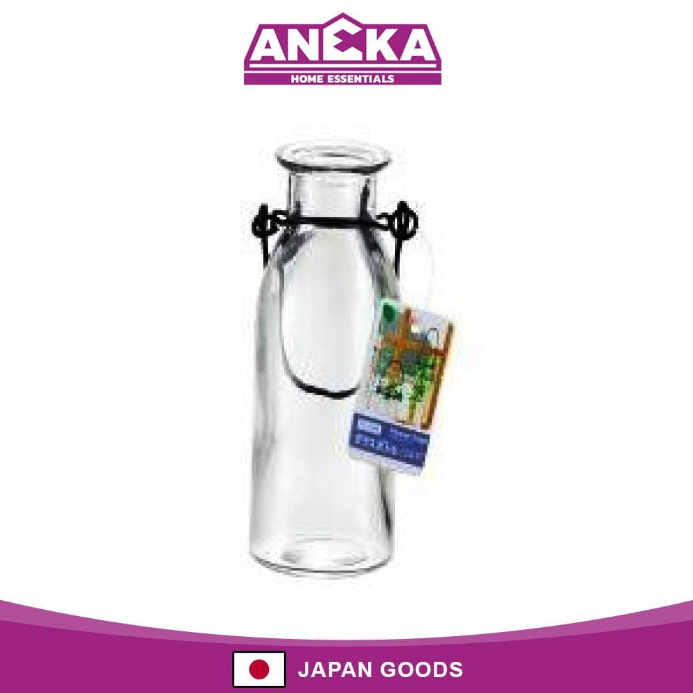 Japanese Glass Bottle Flower Vase