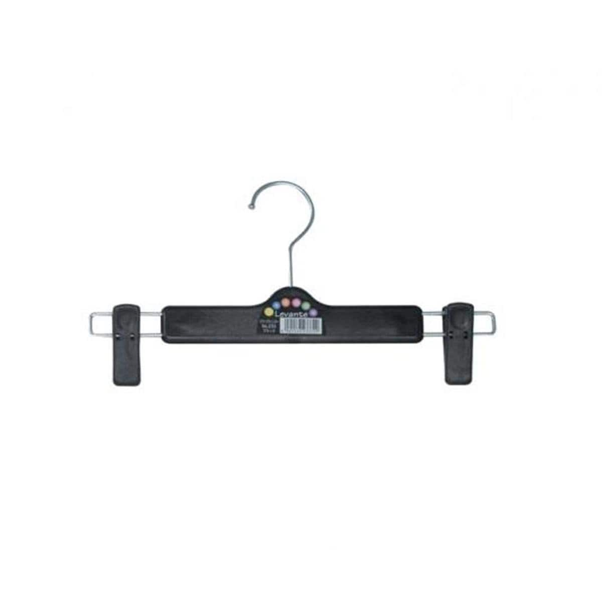 Japanese Levante Slacks Cloth Hanger With Clips Black