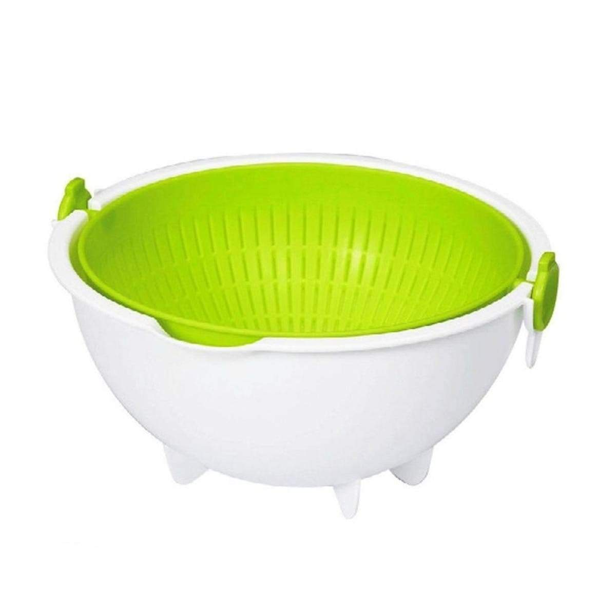 Japanese Plastic Basket Spin Wheel Colander Strainer Large Green KK308