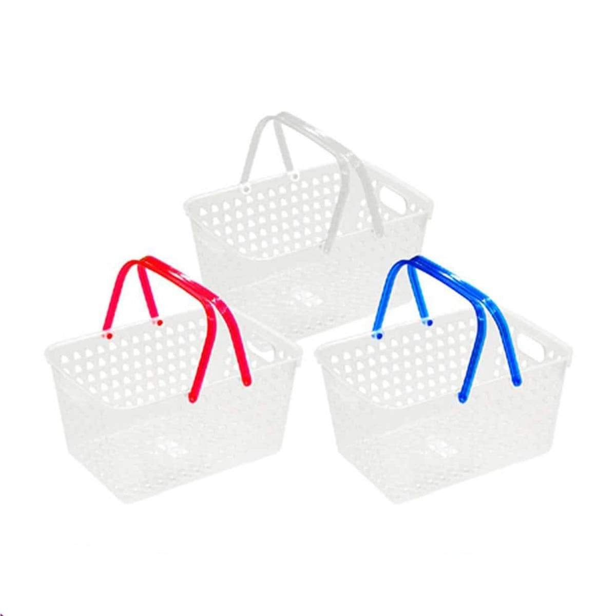 Japanese Plastic Color Basket With Handle 001
