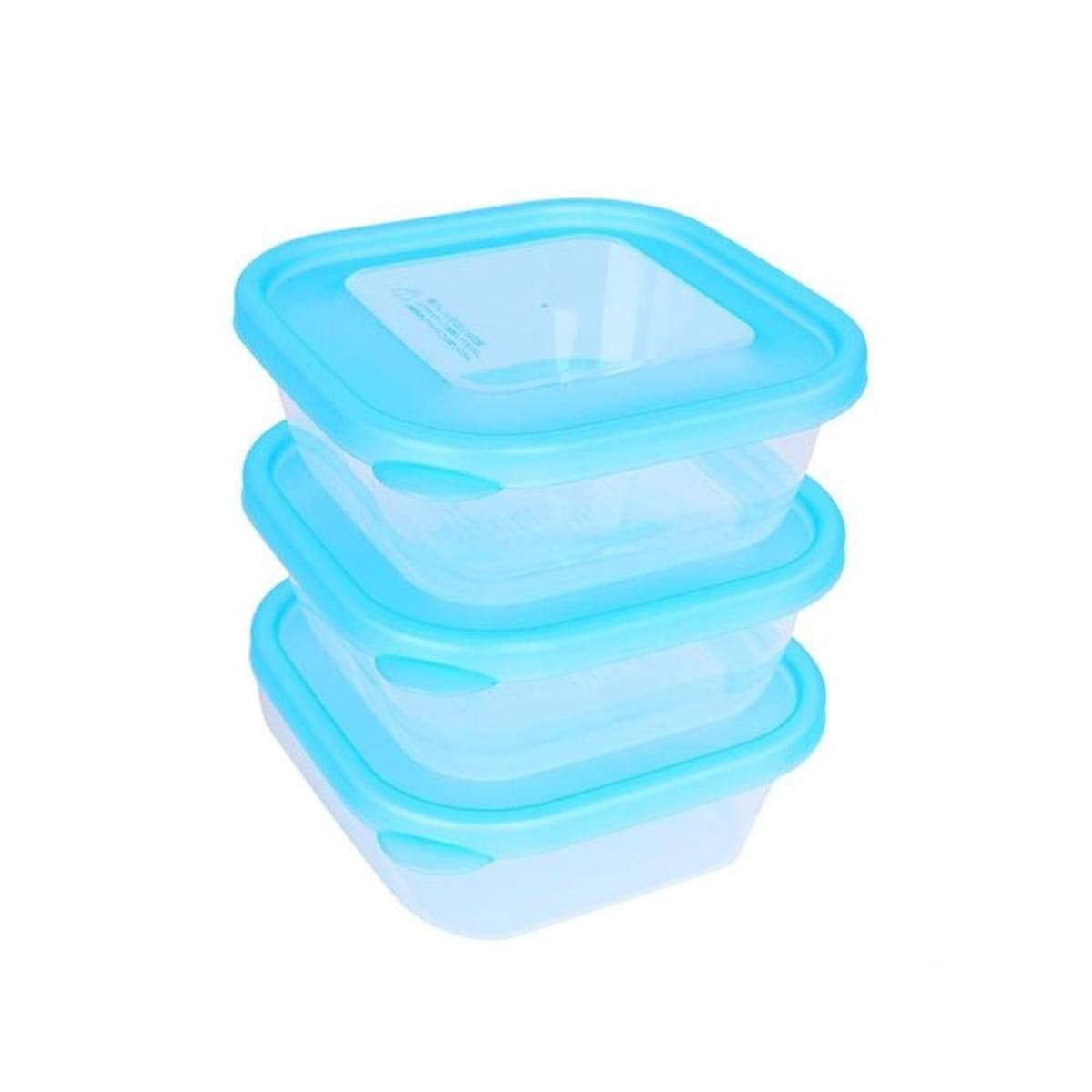 Japanese Plastic Container Homepack C (380ml x 3p) Blue