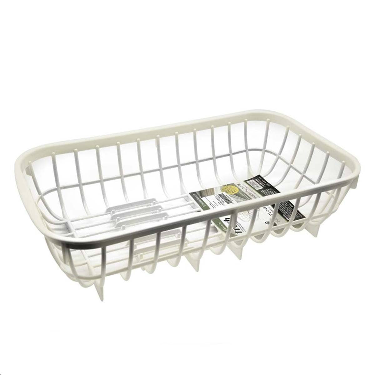 Japanese Plastic Dished Organizer Drain Basket For Sink White