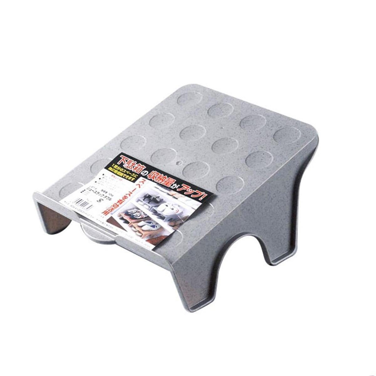 Japanese Plastic Double Shoes Rack Grey