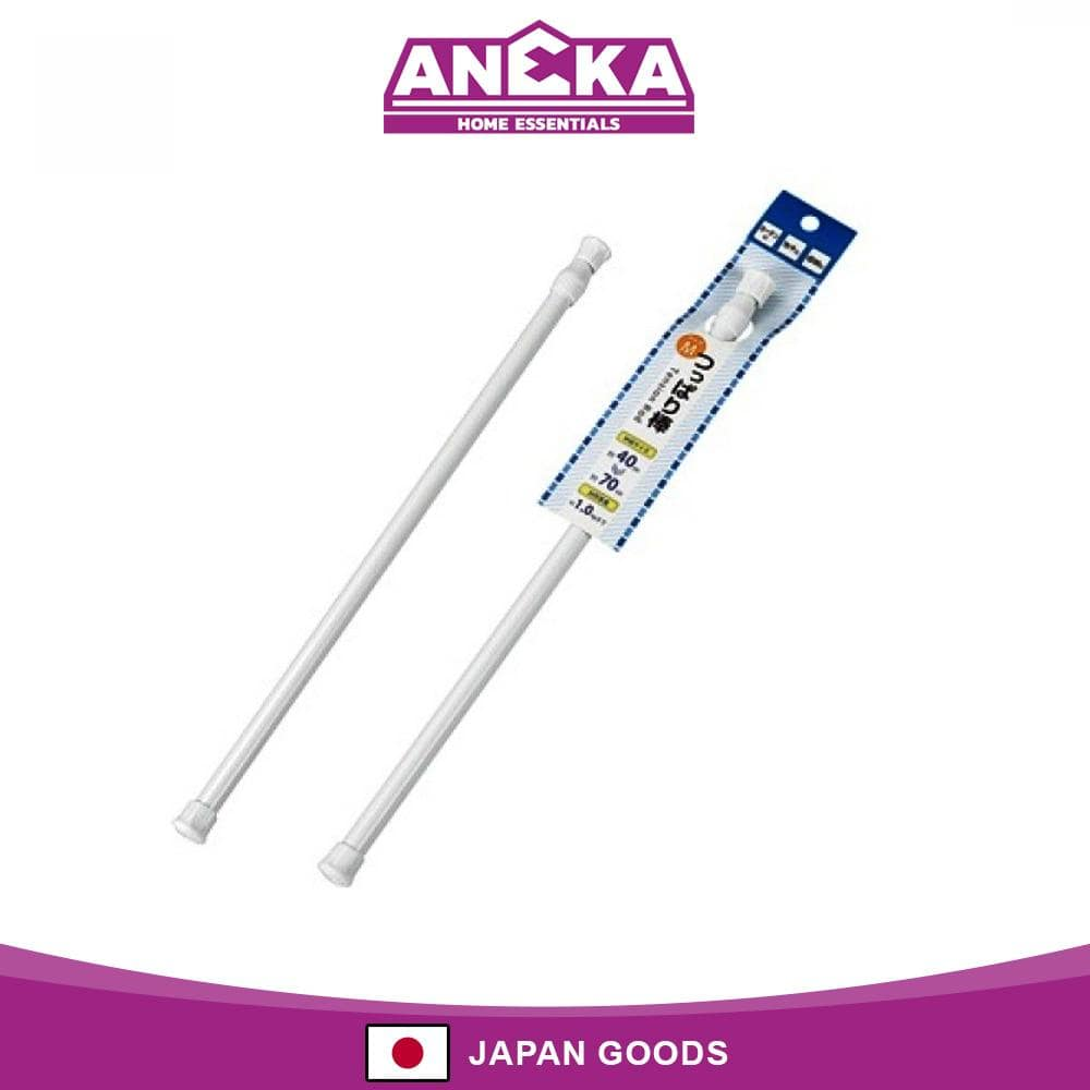Japanese Plastic Extension Rod M (40-70 cm) White