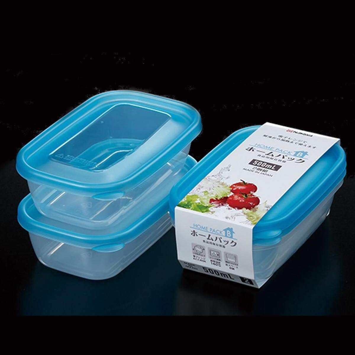 Japanese Plastic Food Storage Container B (500ml x 2p)