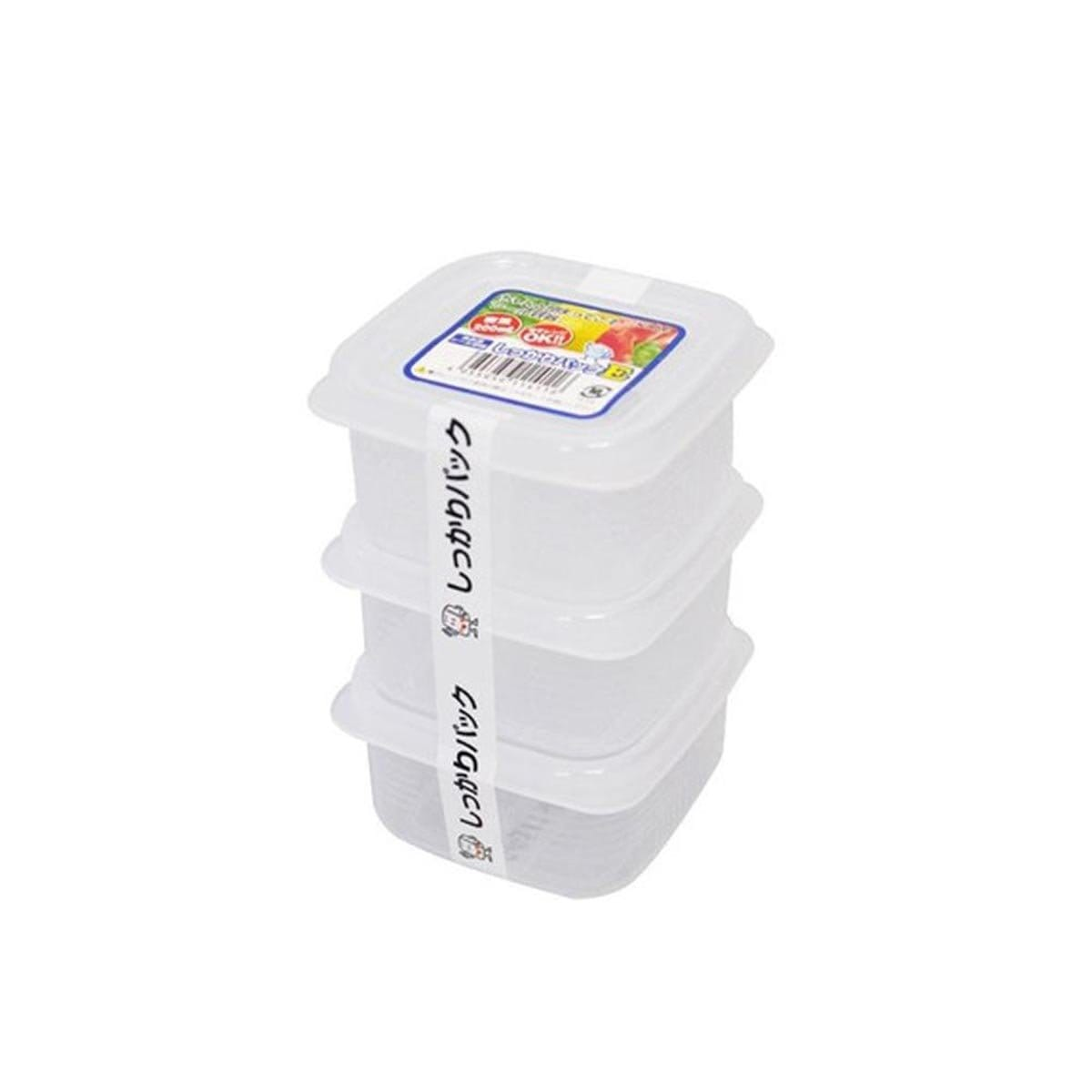 Japanese Plastic Food Storage Container E (200ml x 3pcs)