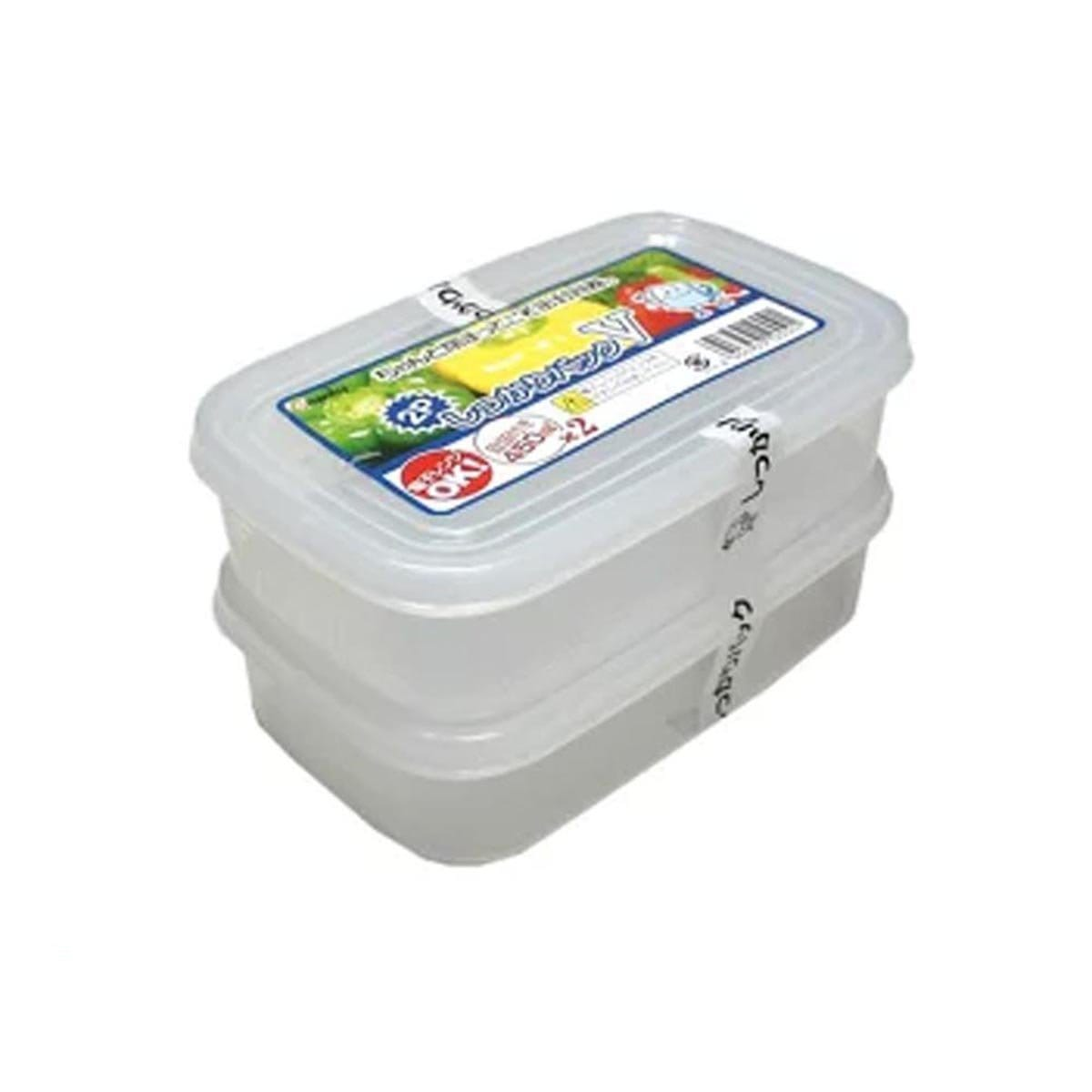 Japanese Plastic Food Storage Container Firmly Packed V Set of 2
