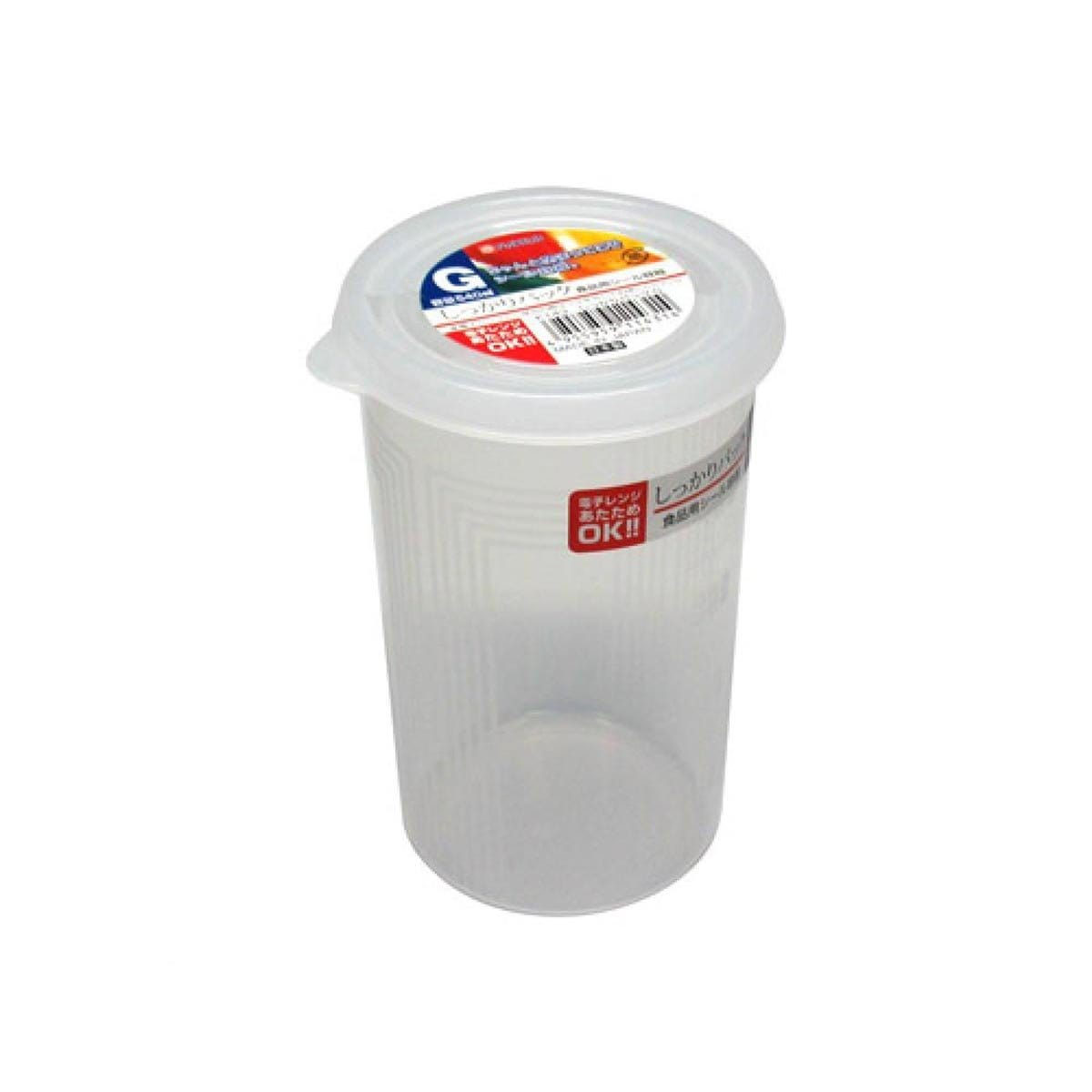 Japanese Plastic Food Storage Container G Cylinder (540ml)