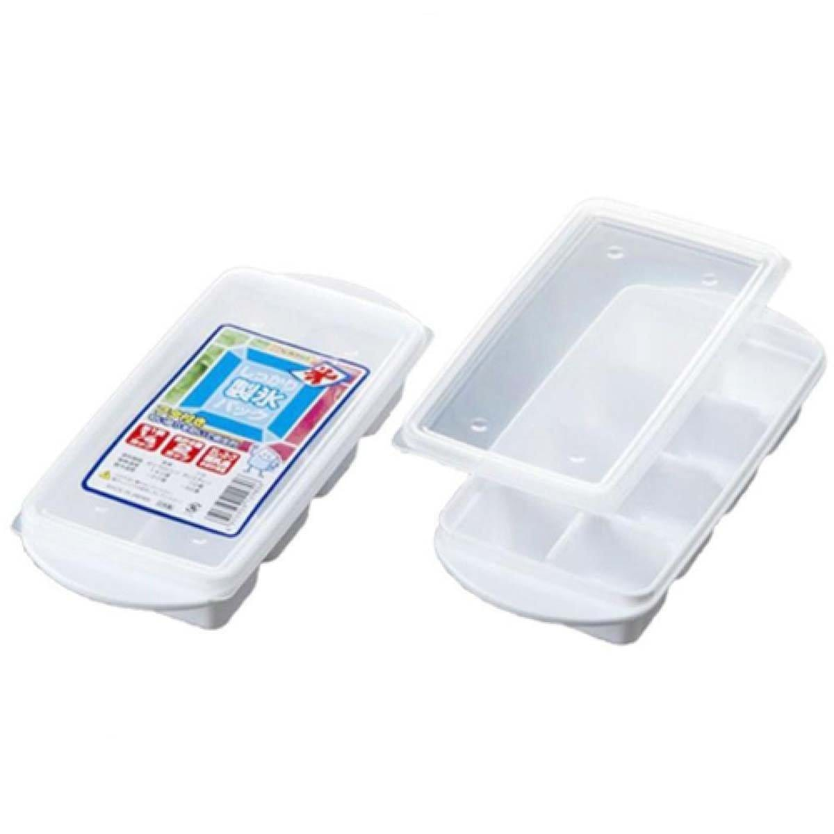 Japanese Plastic Ice Maker Tray with Lid for 8 Ice Cube