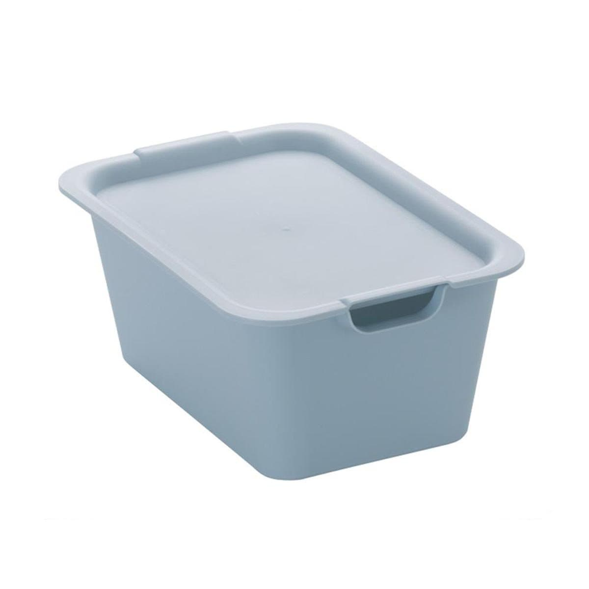 Japanese Plastic Plain Box M Blue