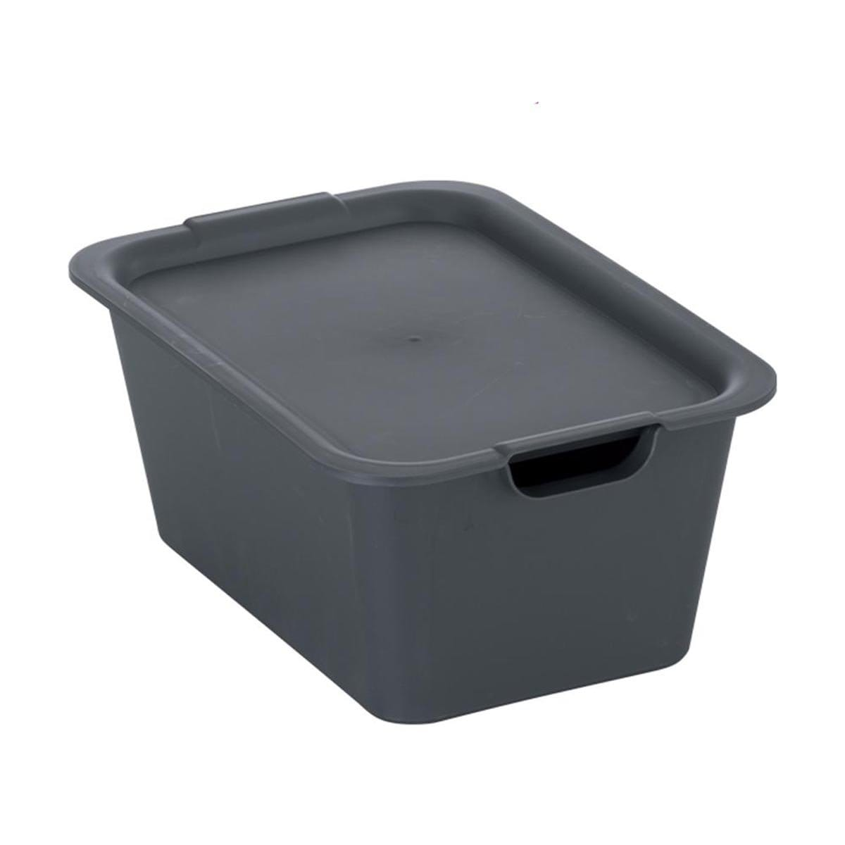 Japanese Plastic Plain Box M Gray