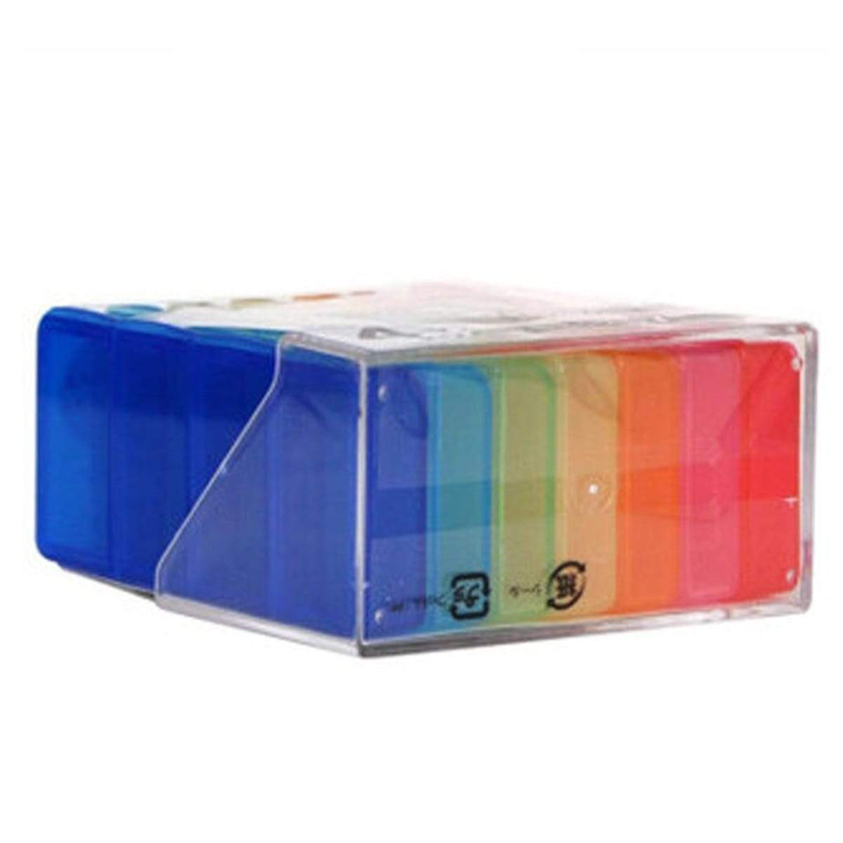Japanese Plastic Portable Pill Case 7 Storage Trays