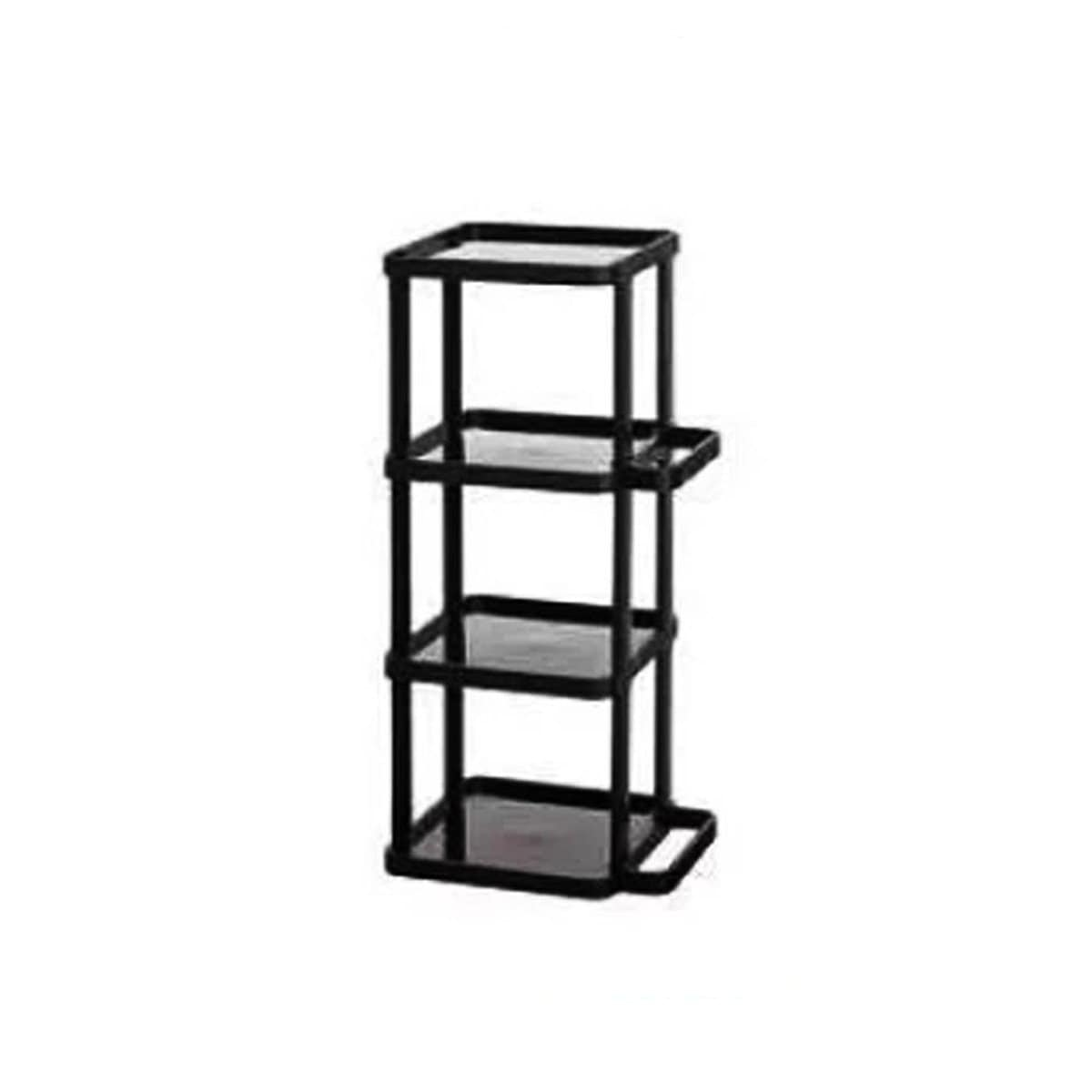 Japanese Plastic Shoe Rack 4 Tier Black