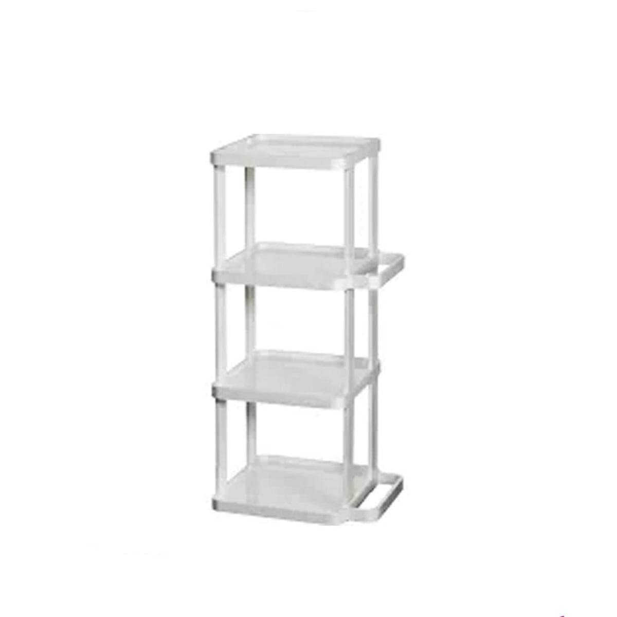Japanese Plastic Shoe Rack 4 Tier White