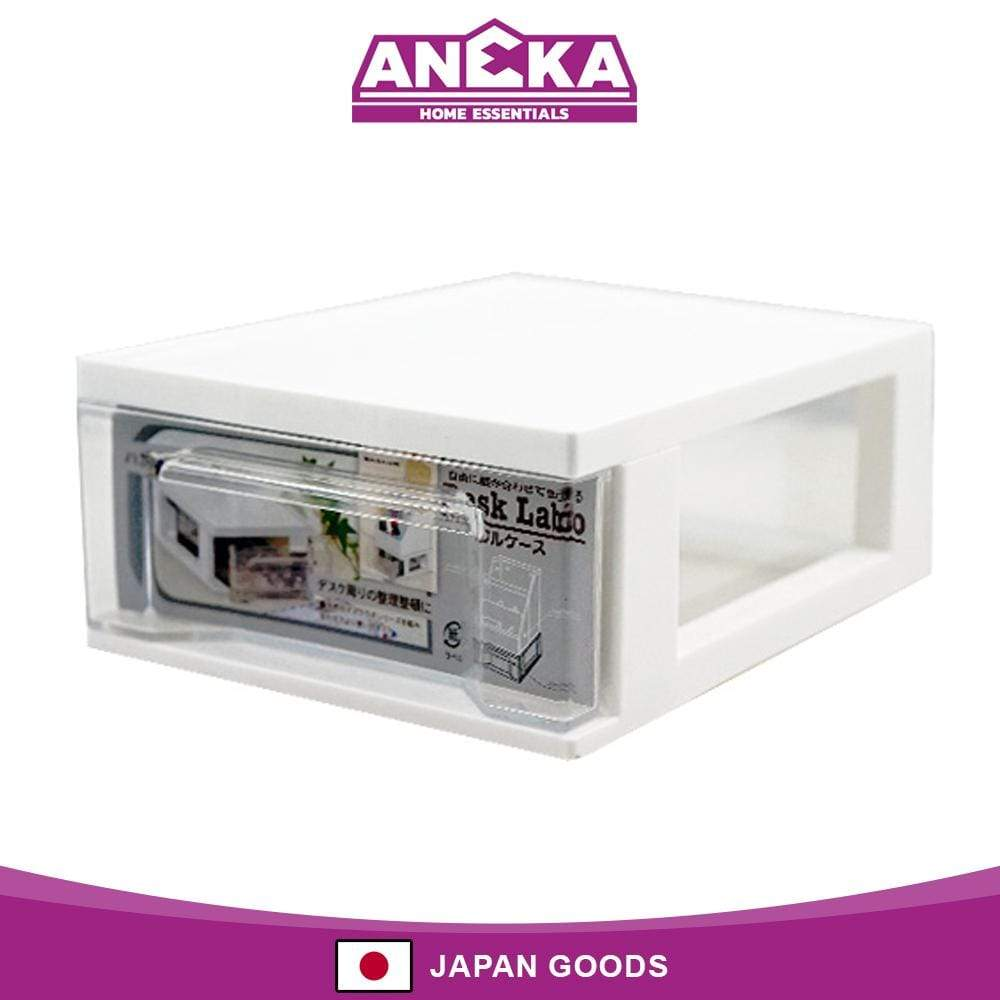 Japanese Plastic Stationary Case White