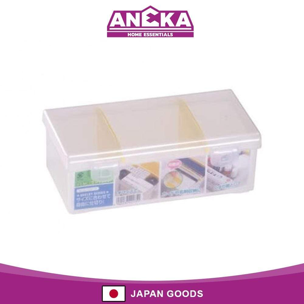 Japanese Plastic Storage Case Box with Two Partition