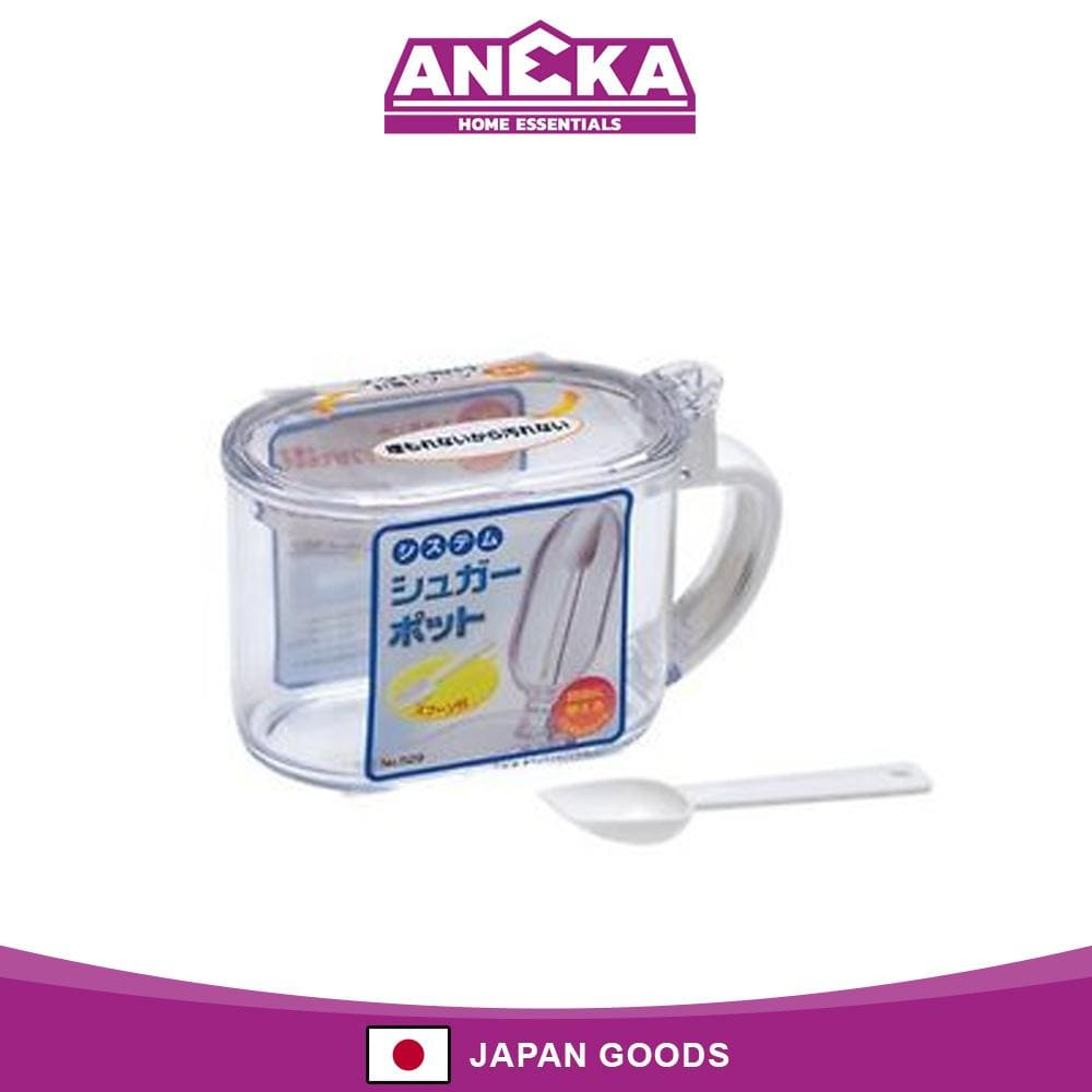 Japanese Plastic Sugar Storage with Measuring Spoon 650ml