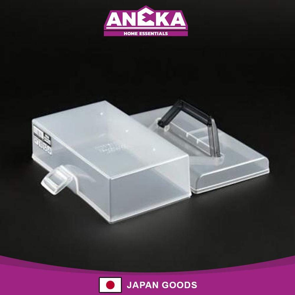 Japanese Plastic Tool Box Wide with Handle (Grey)