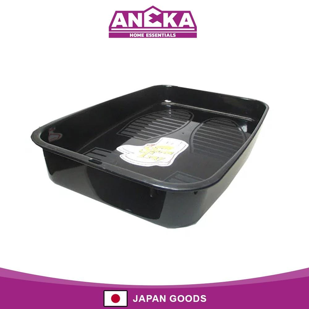 Japanese Shoe Tray Storage Box Black