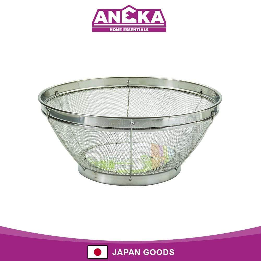 Japanese Stainless Steel Colander Vegetable Fruit Drainer 22cm
