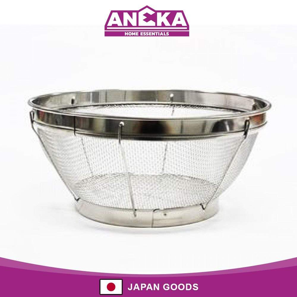 Japanese Stainless Steel Colander Vegetable Rinse Washing Basket 19cm
