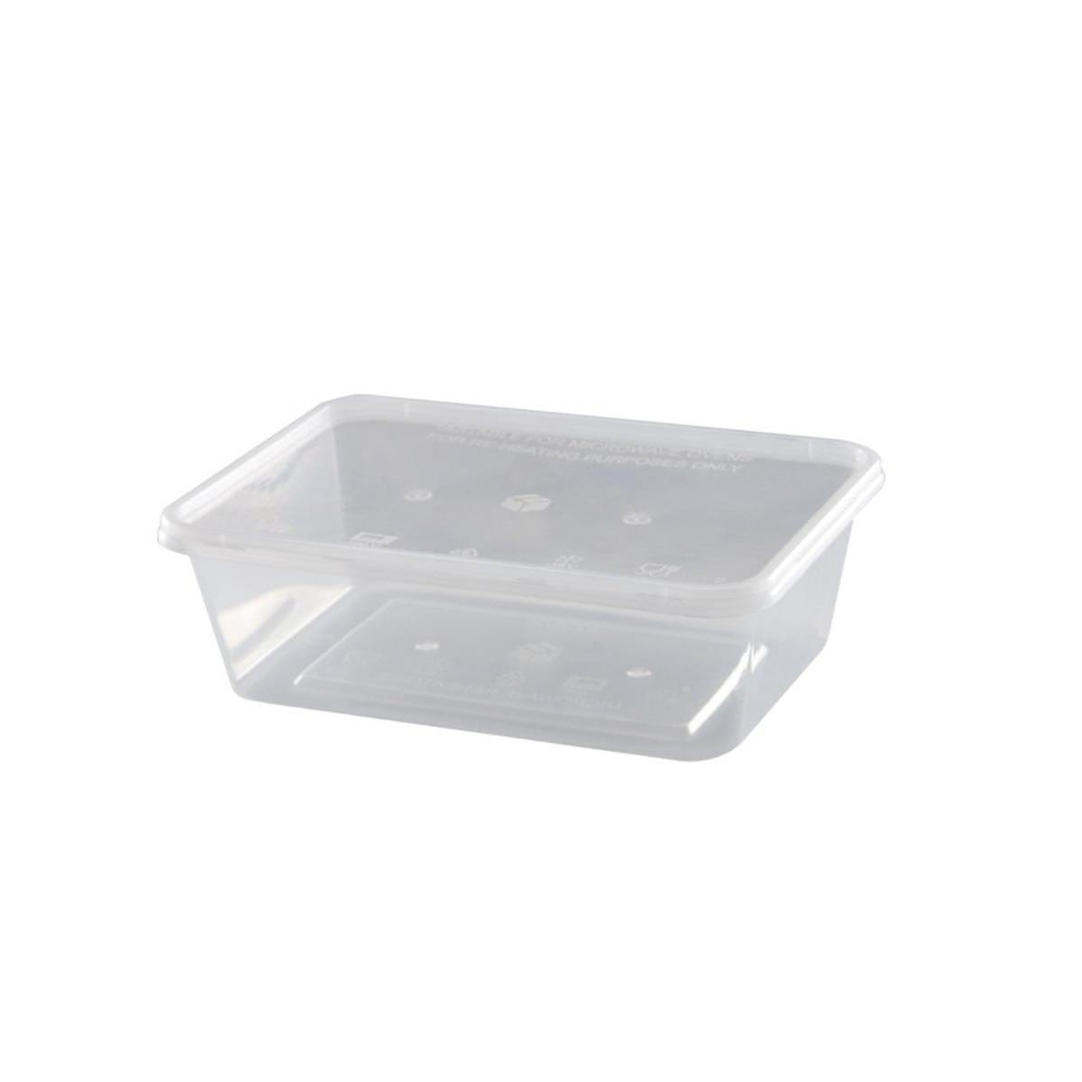 Leaf Rectangular Plastic Food Container 750ml 1ppcs LR750