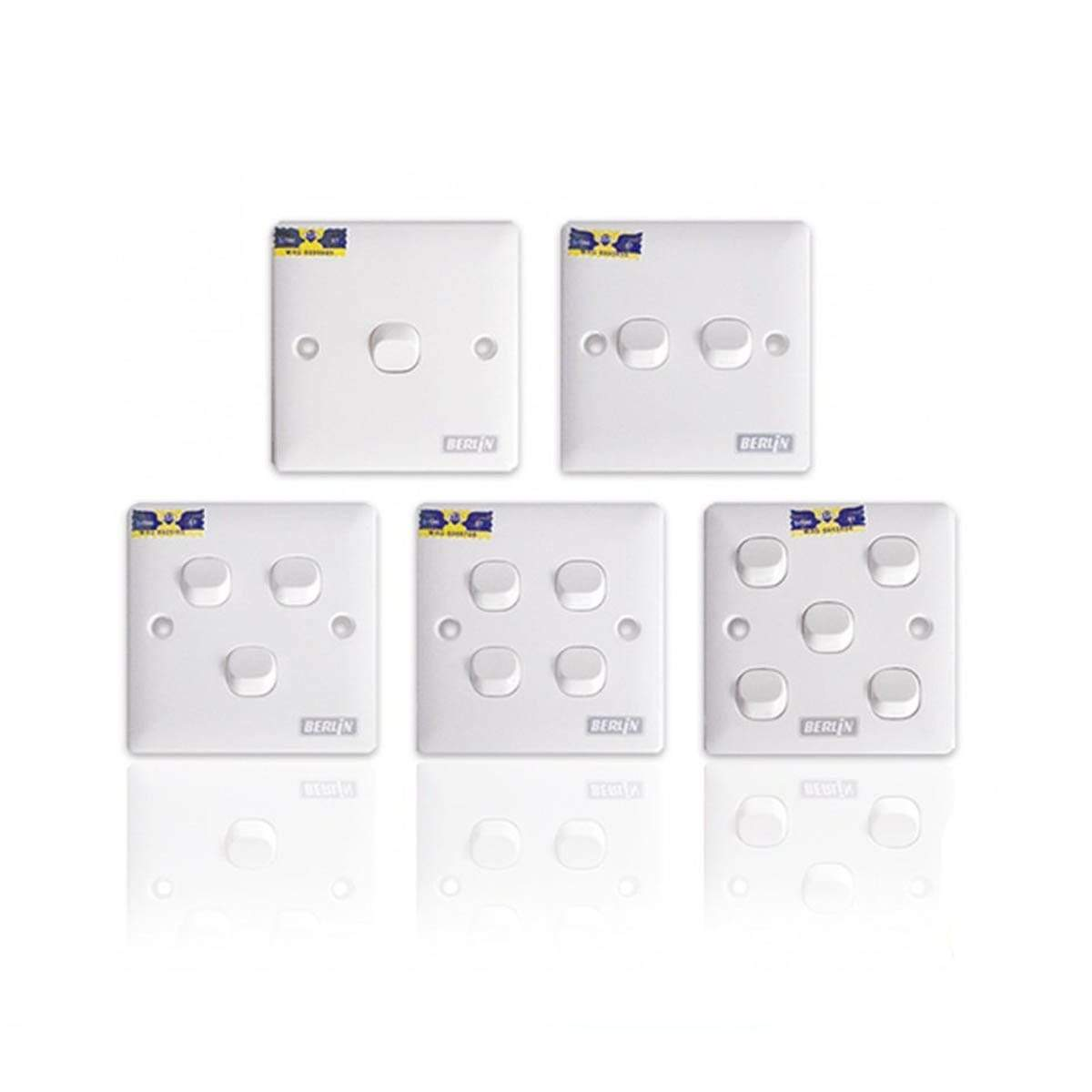 LEMAX 5 Gang 1 Way Switch S805-1