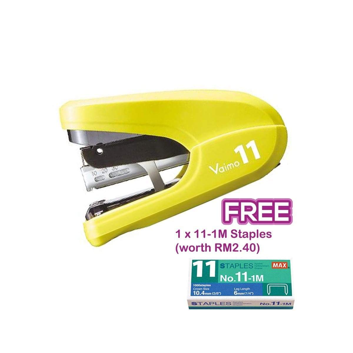 Max Stapler HD-11FLK Yellow
