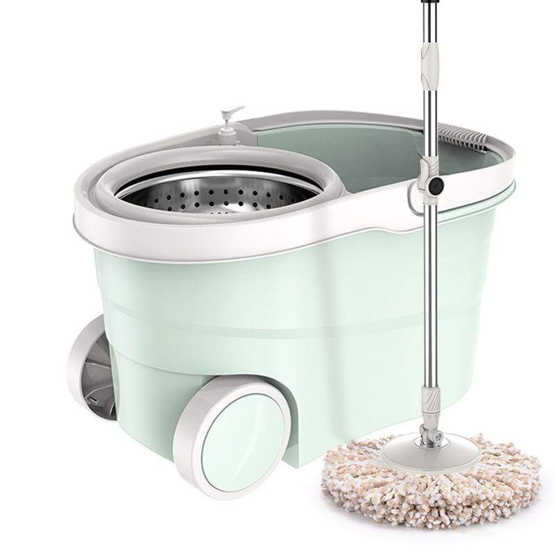 Microfiber Spin Mop with Bucket (2 Microfiber Cloth) M029B