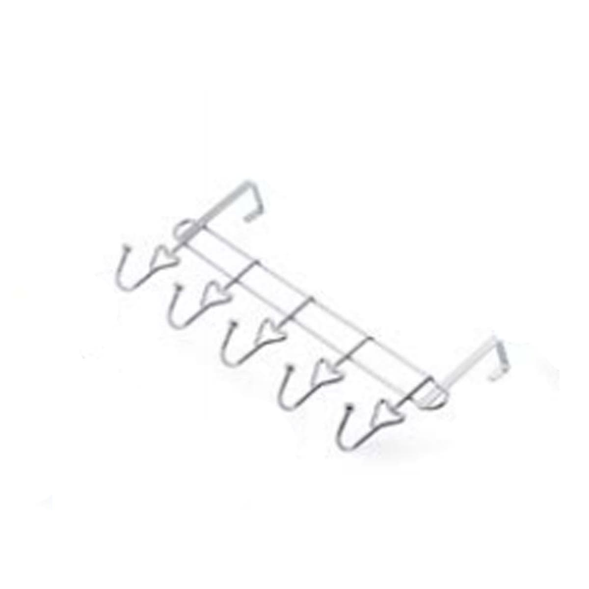 NB625 5 Hooks Stainless Steel Line Hook W/Door Clip