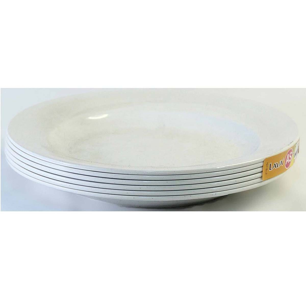 PLT1208 LAVA Shallow AS Plate (6pcs) 8 inches
