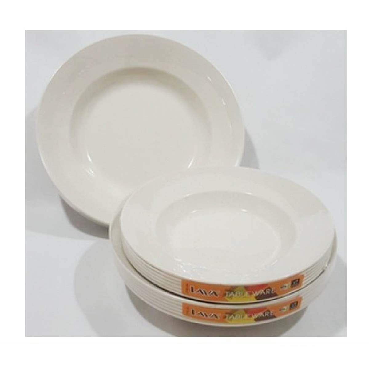 PLT1308 LAVA Deep AS Plate (6pcs) 8 inches