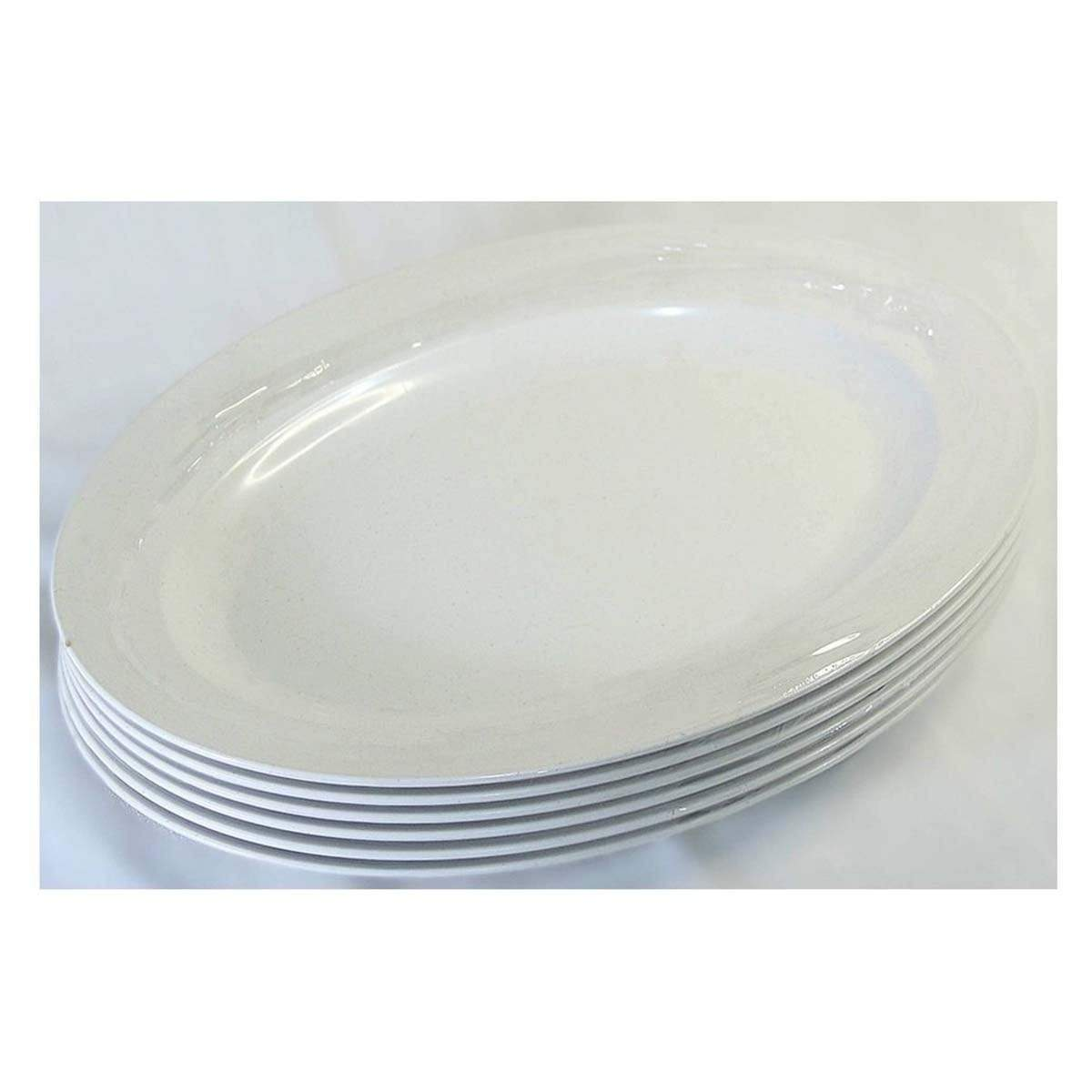 PLT1412 LAVA AS Oval Plate (6pcs) 12 inches