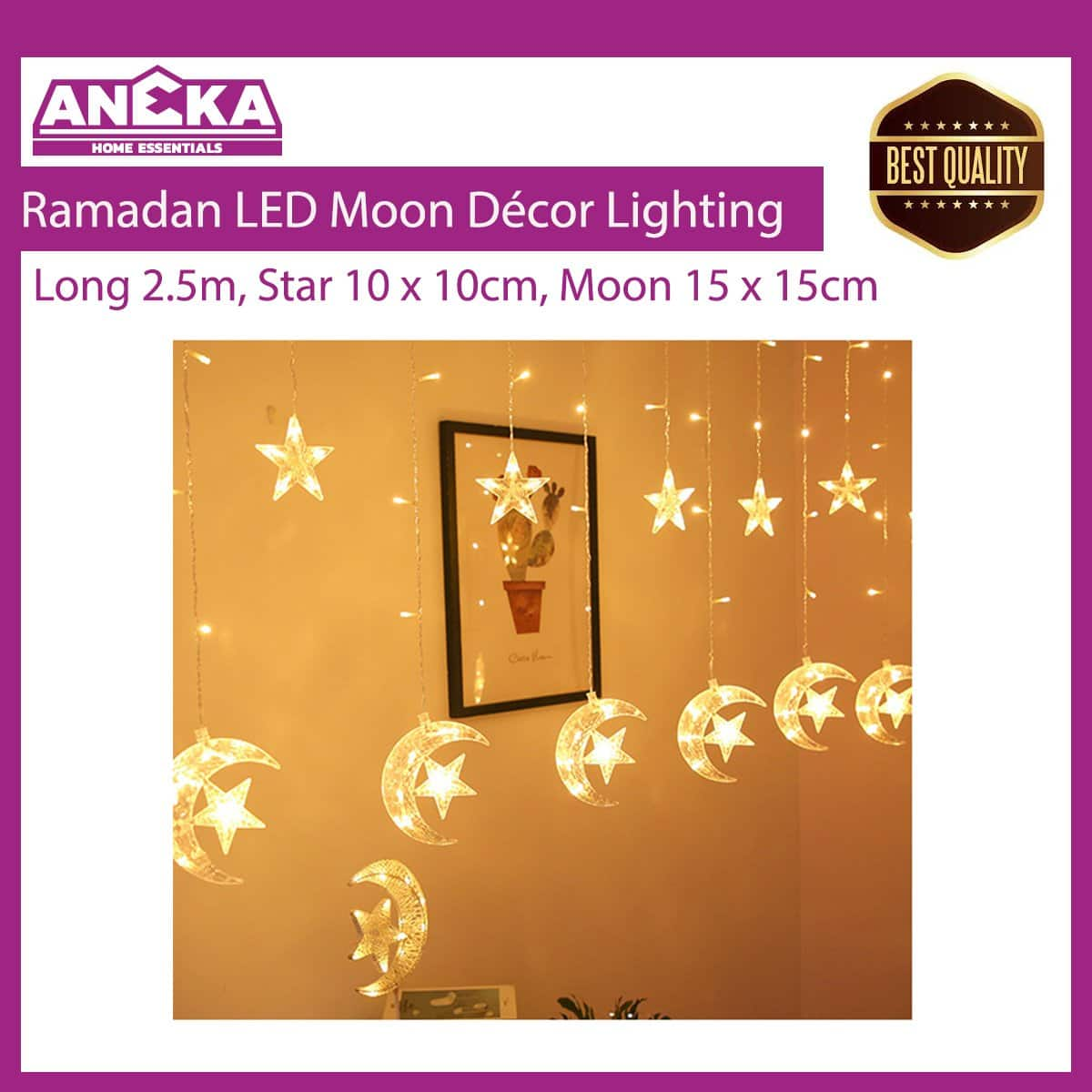 Ramadan LED Moon Décor Lighting