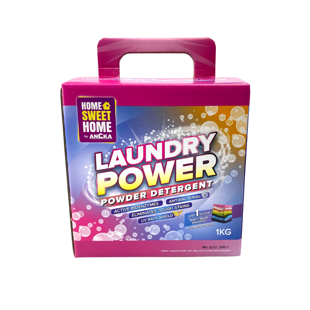 Aneka Antibacterial Laundry Power Detergent Powder 1kg