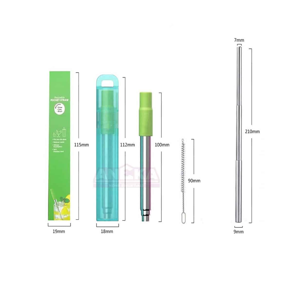 Telescopic Straw 4.5x0.55in