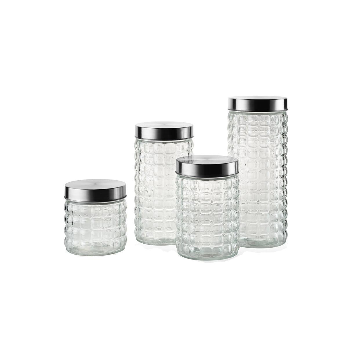 Top Point Glass Canister Set (4pc)